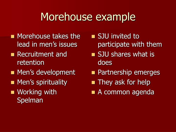 Morehouse takes the lead in men's issues
