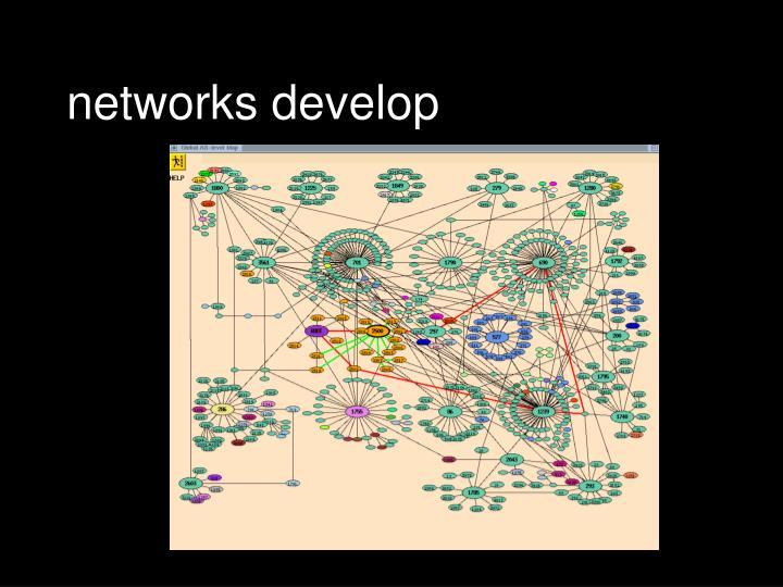 networks develop