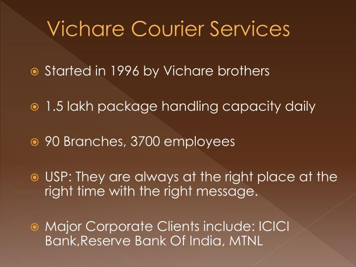 Vichare courier services