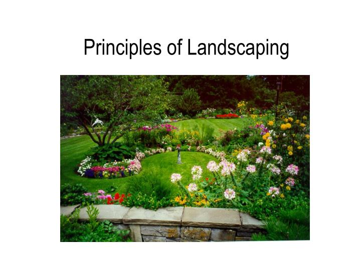 Ppt Principles Of Landscaping Powerpoint Presentation Free