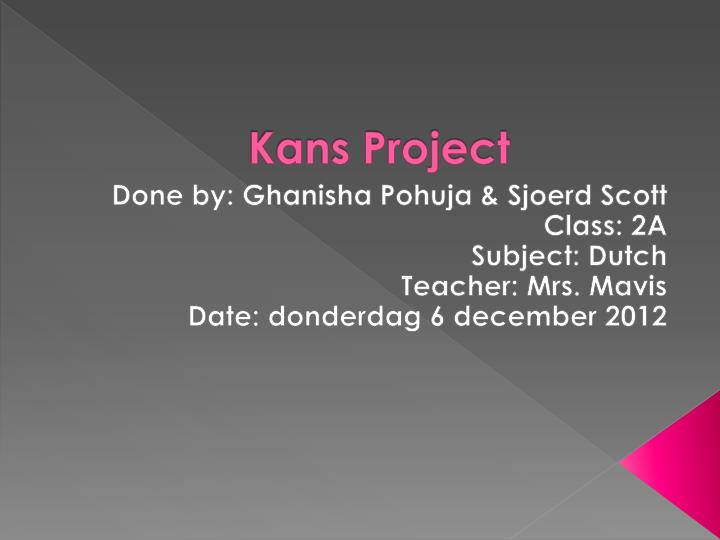 kans project n.