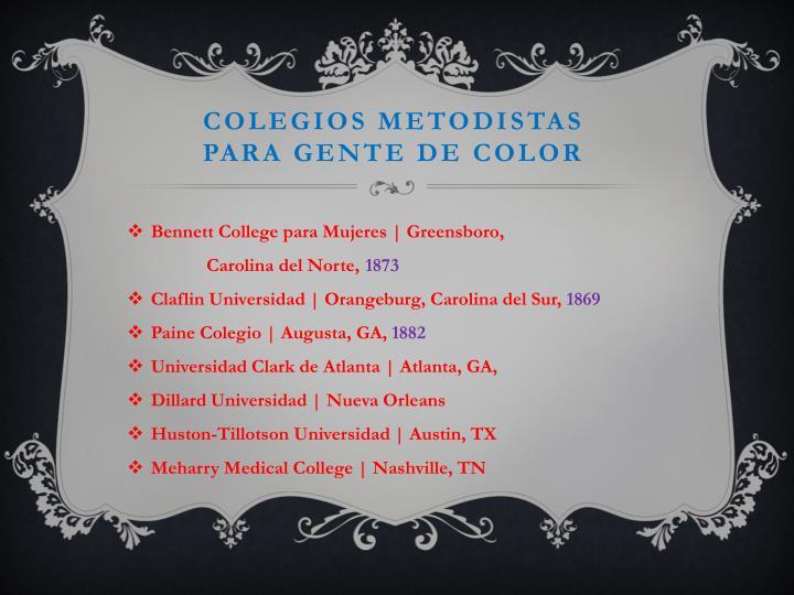 Colegios metodistas
