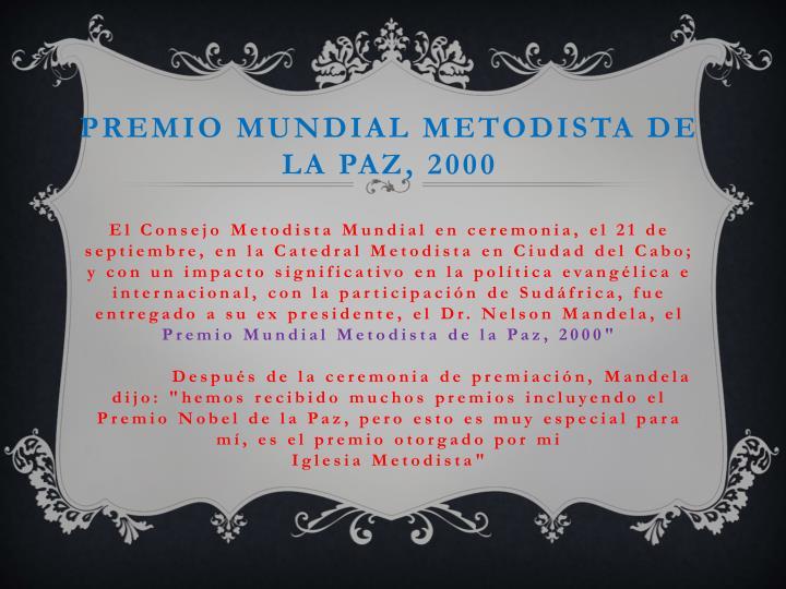 Premio Mundial Metodista de