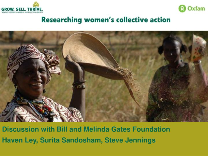 Discussion with Bill and Melinda Gates Foundation