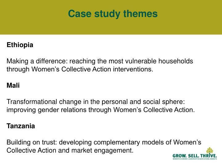 Case study themes