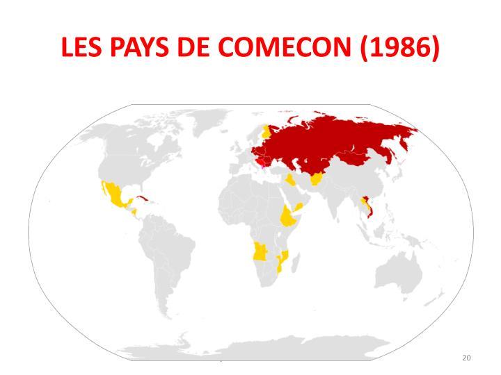 LES PAYS DE COMECON (1986)