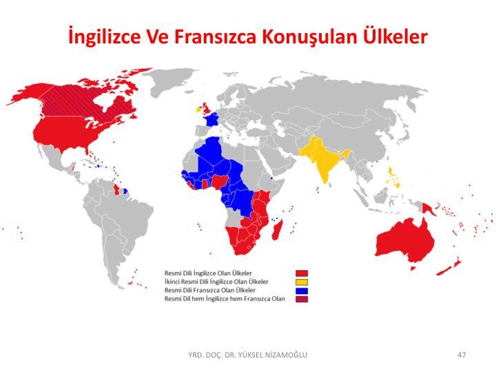 İngilizce Ve Fransızca Konuşulan Ülkeler