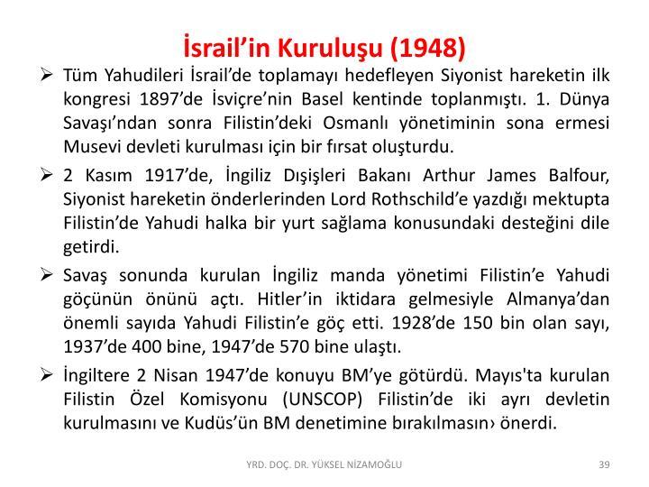 İsrail'in Kuruluşu (1948)