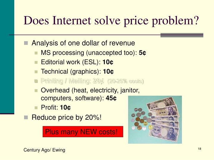 Does Internet solve price problem?