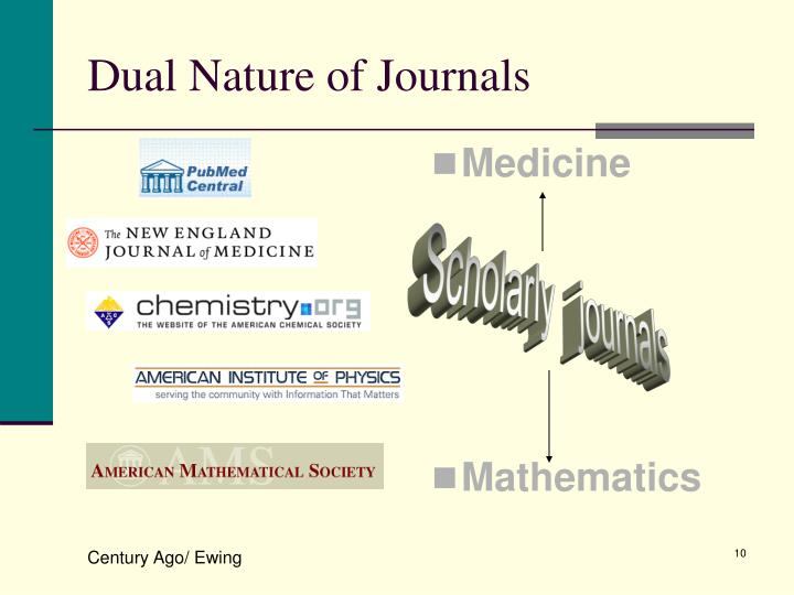 Dual Nature of Journals