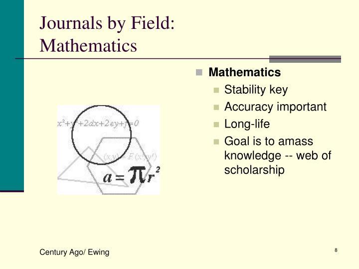 Journals by Field: