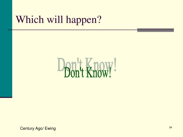 Which will happen?