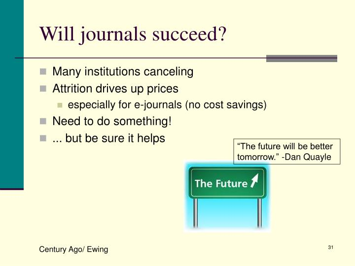 Will journals succeed?