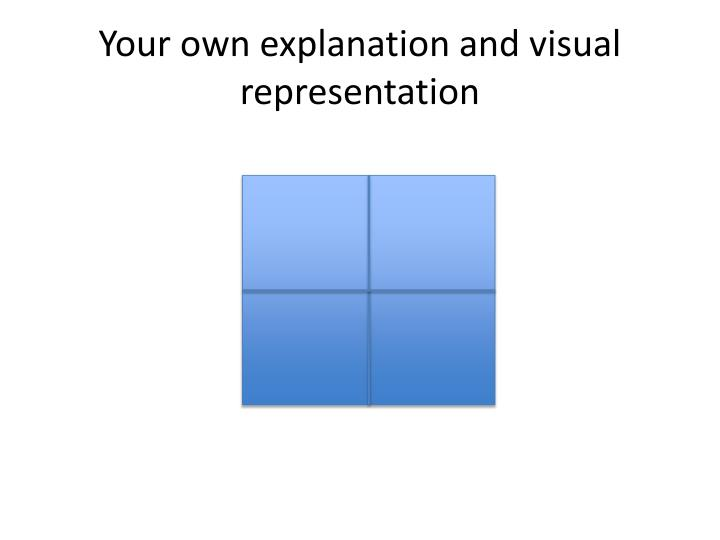 Your own explanation and visual representation