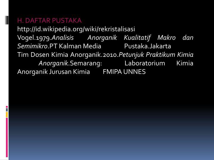 H. DAFTAR PUSTAKA