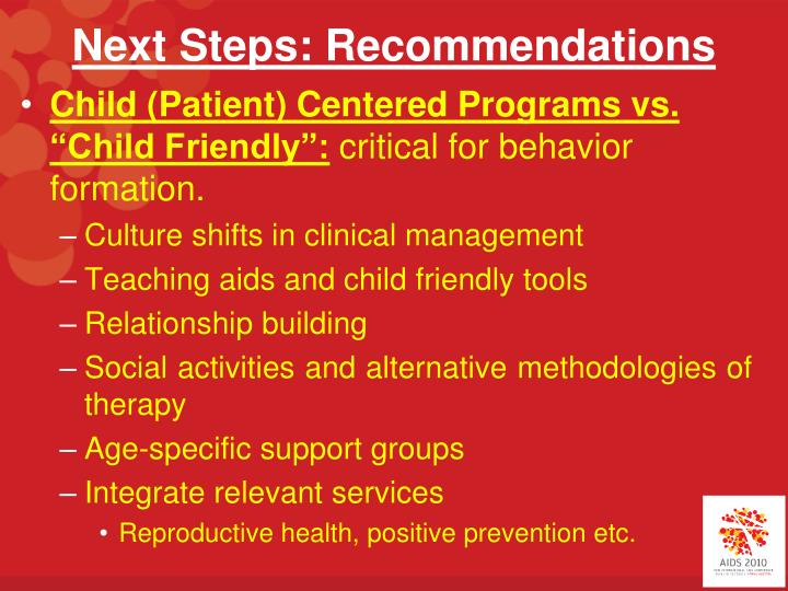 Next Steps: Recommendations