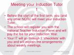 meeting your induction tutor 1