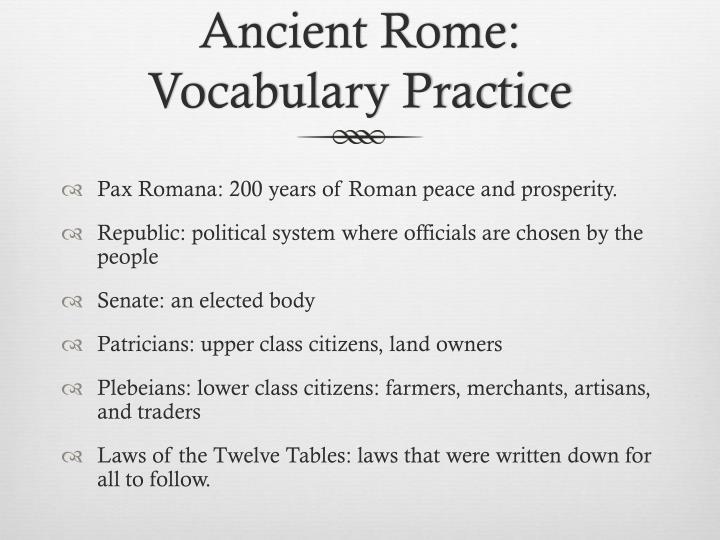 Ancient Rome: