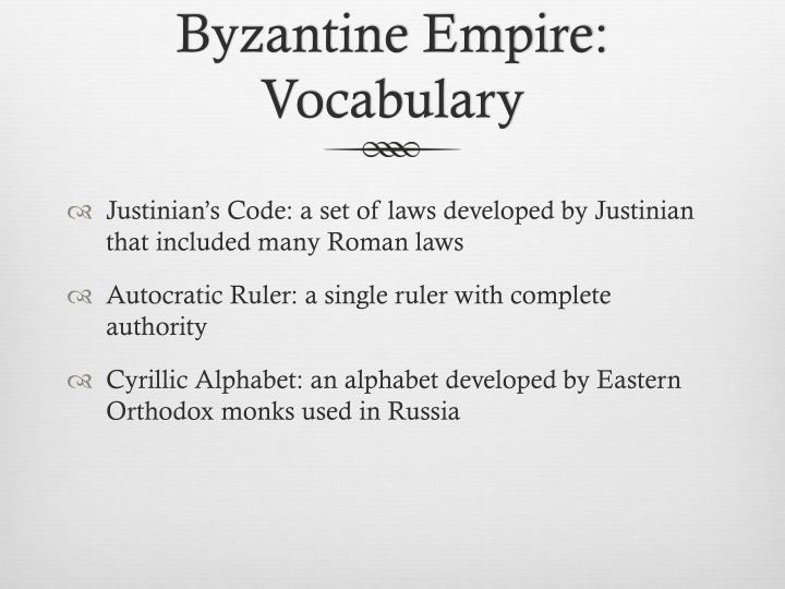 Byzantine Empire: