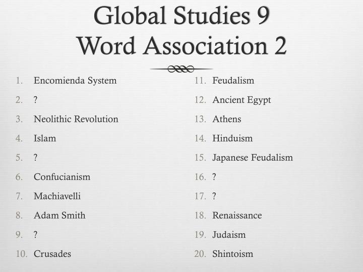 Global Studies 9