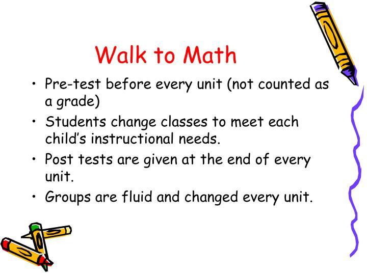 Walk to Math