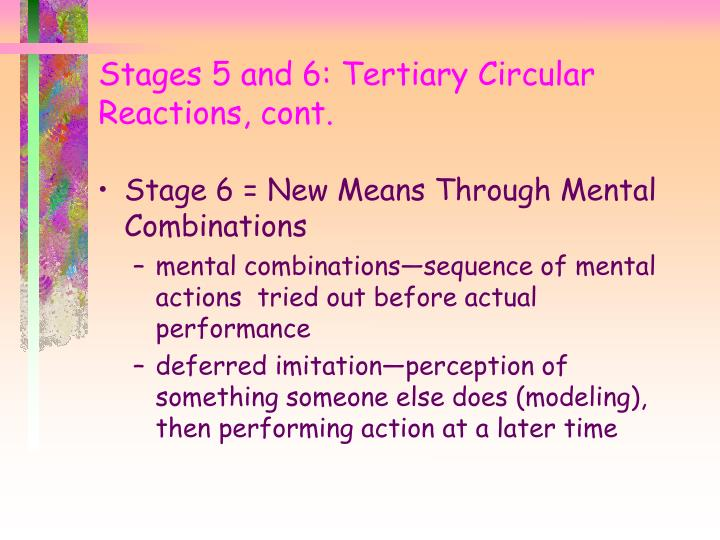 Stage 6 = New Means Through Mental Combinations
