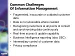 common challenges of information management