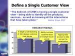 define a single customer view
