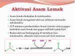 aktivasi asam lemak