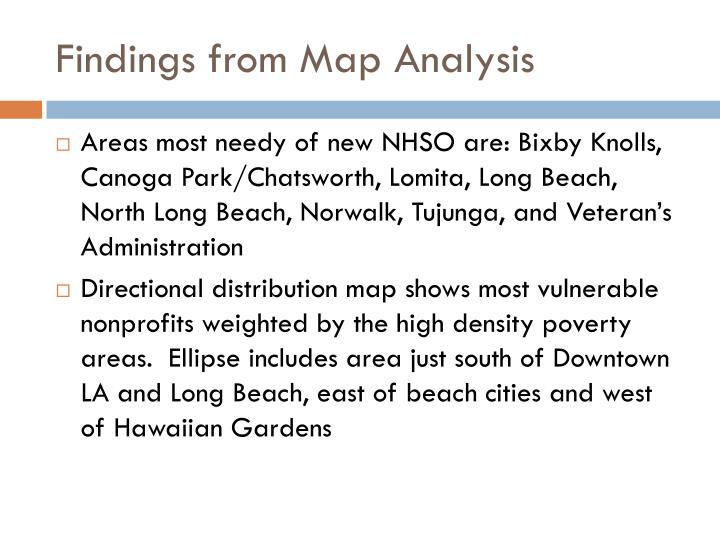 Findings from Map Analysis