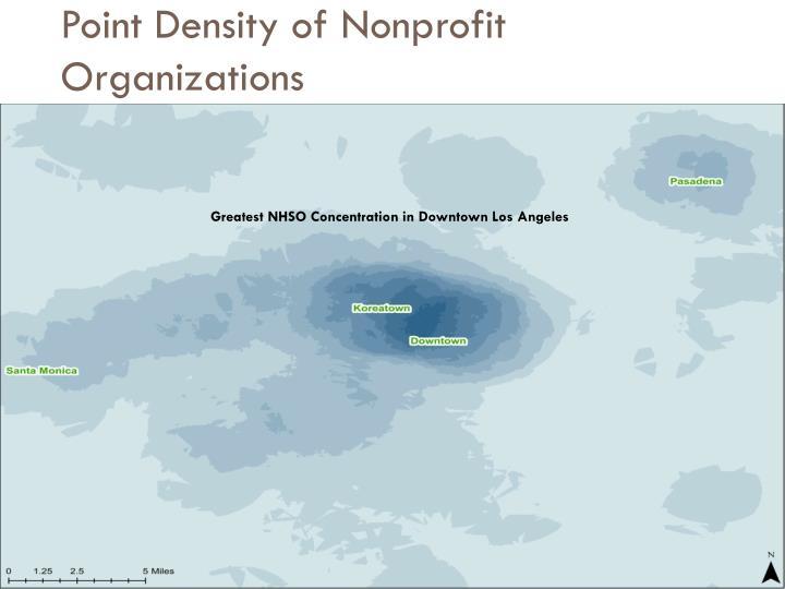 Point Density of Nonprofit Organizations
