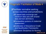 pragmatic facilitation of mode 42
