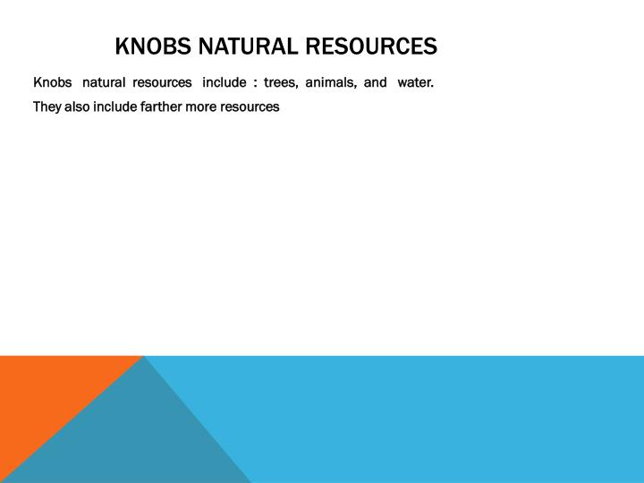 knobs natural resources