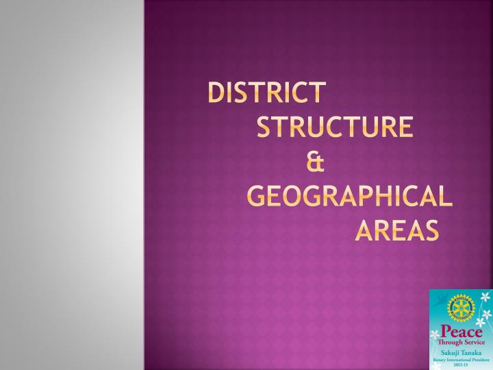 district structure geographical areas n.