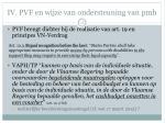 iv pvf en wijze van ondersteuning van pmh4