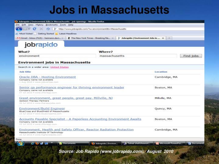 Jobs in Massachusetts