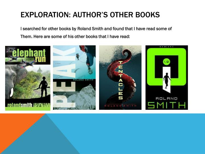 Exploration: Author's other books