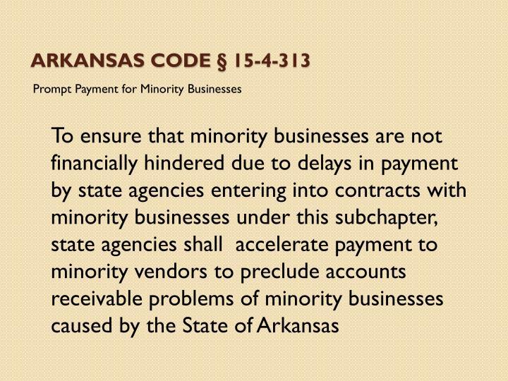 Arkansas Code § 15-4-313