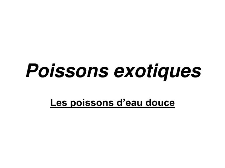 poissons exotiques n.