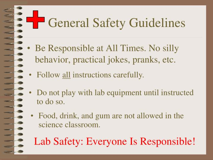 lab safety assignment Introduction to the chemistry lab: safety comes first purpose to learn the basic safety rules in the lab, to learn the use of appropriate safety devices and ppe.