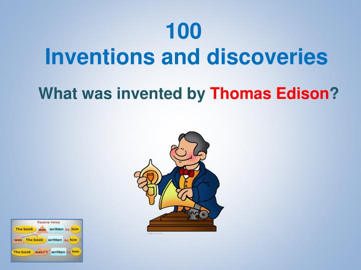 100 inventions and discoveries