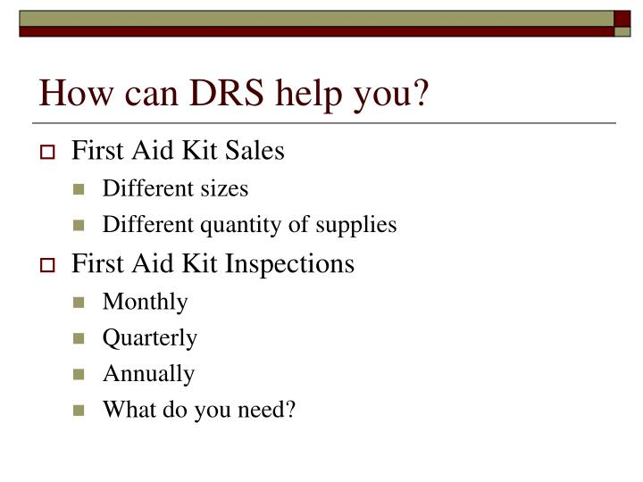 How can DRS help you?