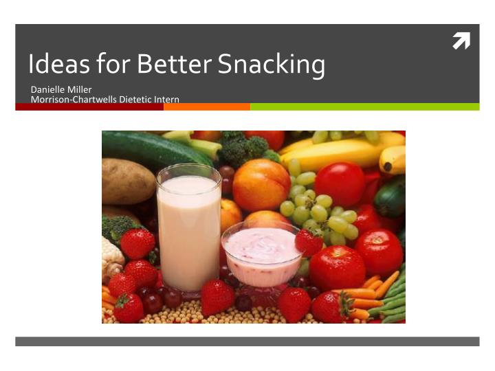 ideas for better snacking n.