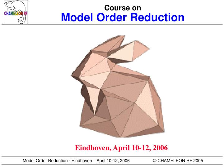 course on model order reduction n.