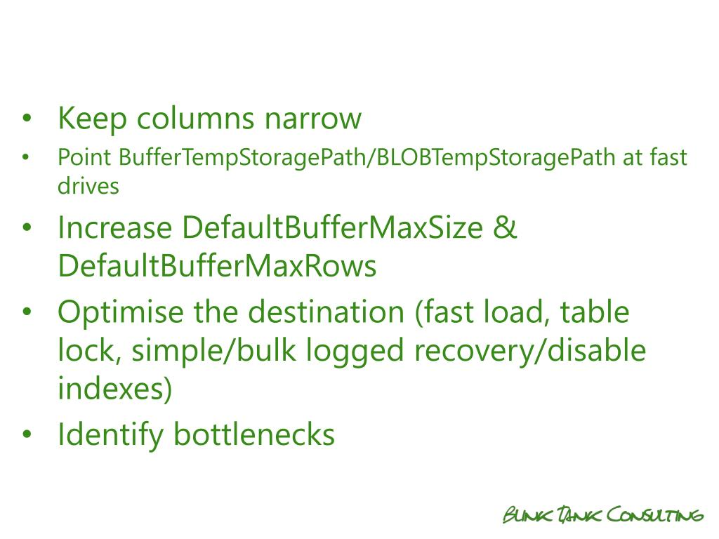 PPT - SSIS Dataflow Performance Tuning Jamie Thomson PowerPoint