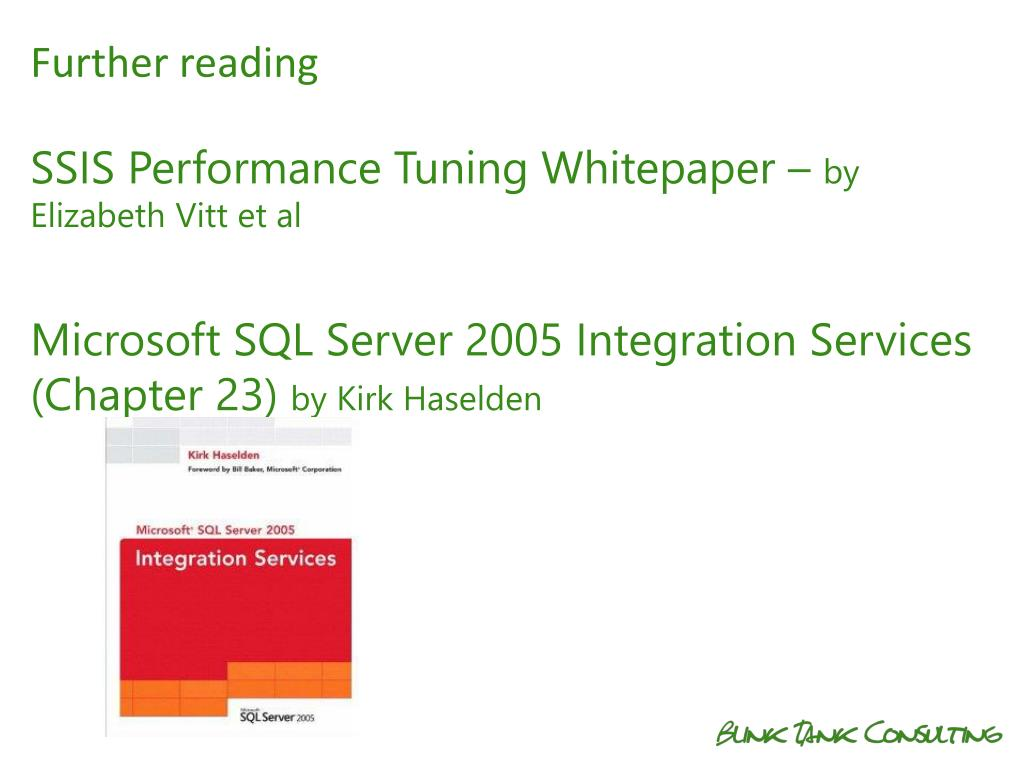 PPT - SSIS Dataflow Performance Tuning Jamie Thomson