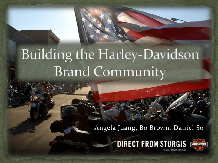 Building the harley davidson brand community