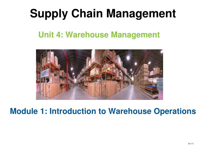 unit 4 warehouse management n.
