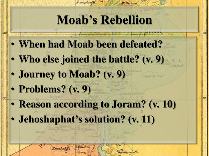 Moab's Rebellion