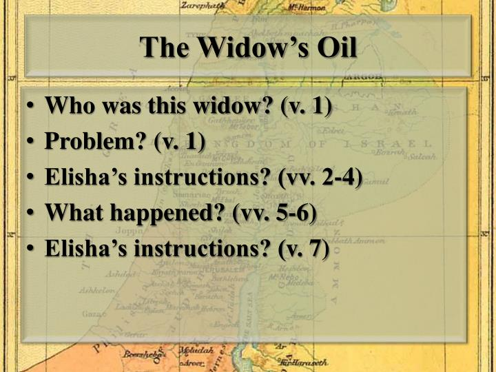 The Widow's Oil